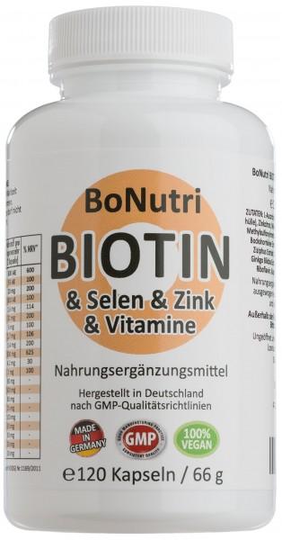 Flasche BIOTIN & SELEN & ZINK & VITAMINE